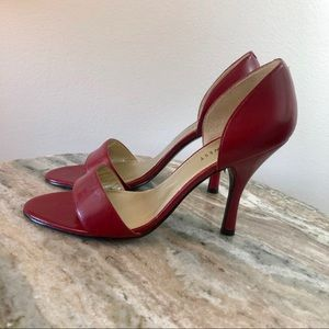 Nine West Red Heels size 7 leather